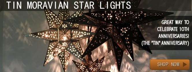 Moravian Star Lights and Drop Lights